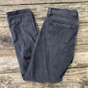 Old Navy Mid-Rise Black Straight Jean